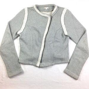 Gap Moto Jacket Sweater Zip Up
